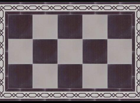 Portugese Marokkaanse tegels B30 zwart wit