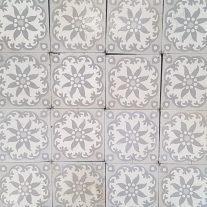 Antieke keramische vloertegels