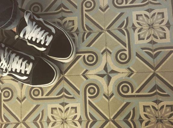 keramische patroontegels antiek