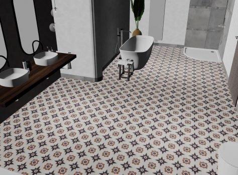 Portugese tegels BRABANT badkamertje