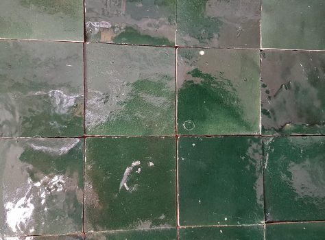 Marokkaanse tegels zelliges vert foncee 10x10 cm