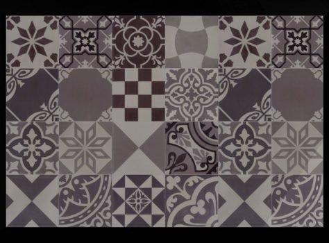 patchwork cementtegels grijs