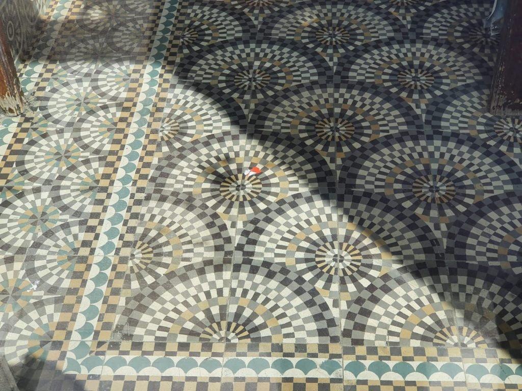 Antieke mozaiektegels Cerfontaine