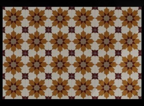 Portugese tegels geel oranje SPZXL-02