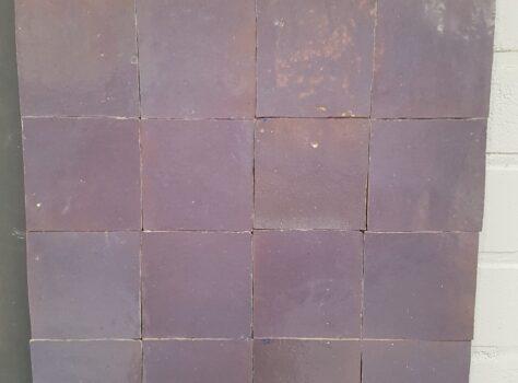 Marokkaanse tegels AUBERGINE 10x10