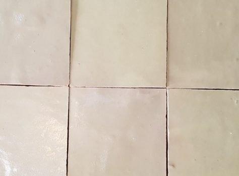 Zelliges wit bruin NOUGAT 10x10 cm