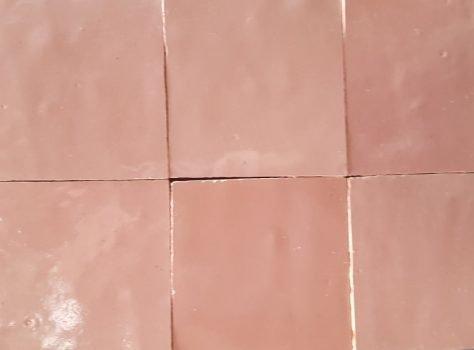 Marokkaanse zelliges ROSE CLAIR 10x10 cm
