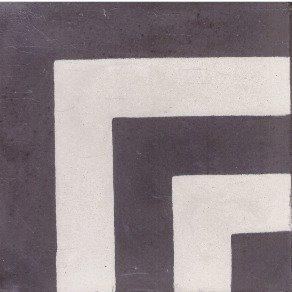 Portugese cementtegels zwart wit C32-CC