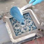 Produceren van cementtegels stap 1