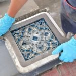 produceren van cementtegels stap 2