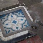 produceren van cementtegels stap 3