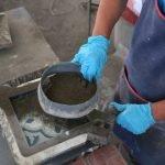 produceren van cementtegels stap 5