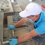 produceren van een cementtegel stap 5