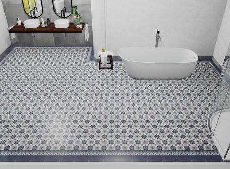 badkamer portugese tegels leggen
