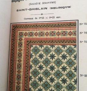 antieke vloertegels St Ghislaine