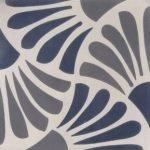 Cementtegels grijs en blauw Sc34 20x20 cm