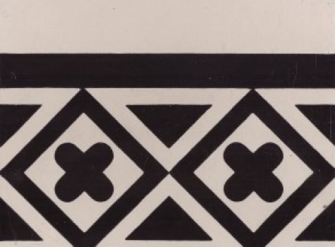 Portugese tegels zwart wit 20x20 cm Border 33