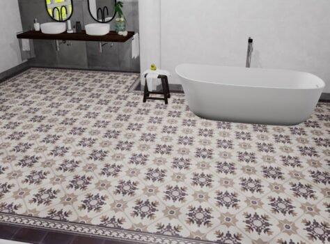 Portugese tegels in de badkamer serie MONTPELLIER 20x20 cm
