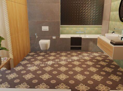 badkamer met cementtegels EPERNAY