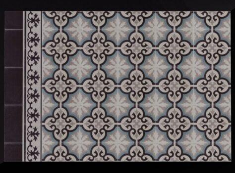 Patroontegels met blauw 20x20 cm