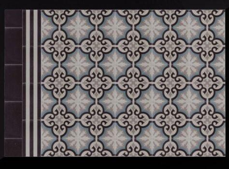 Patroontegels van Portugese tegels FEZ 08 blauw