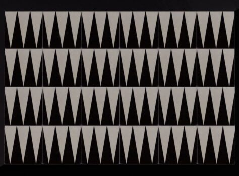 designtegels TRICTRAC 20x20 zwart wit