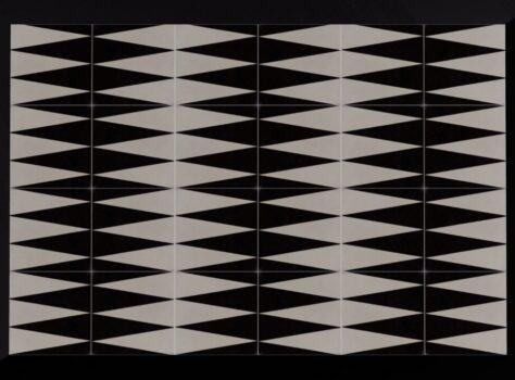 designtegels van FLOORZ 20x20 cm zwart wit