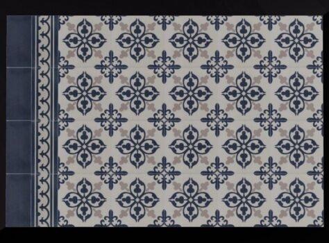 patroontegels VERSAILLES 20x20 cm combi effen cementtegels