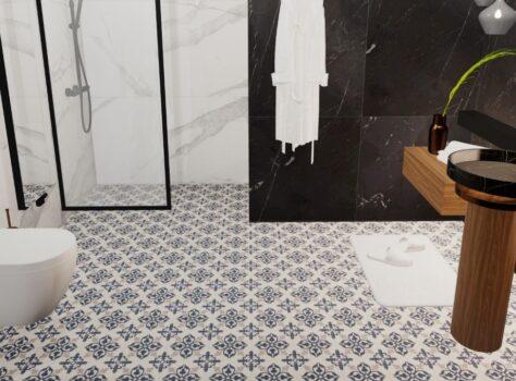 patroontegel of portugese tegel VERSAILLES badkamer 20x20