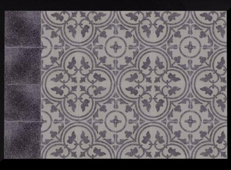 grijze terrazzo tegels 20x20 met motief