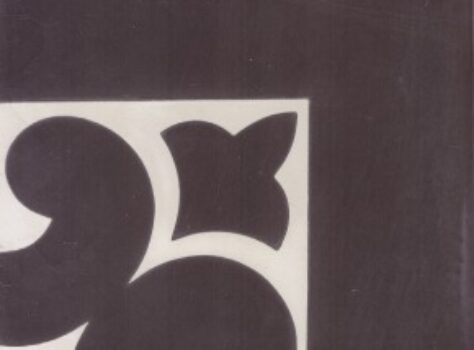 Portugese decor tegel CORNER 34 zwart